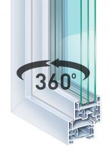 plastové okno Classic Tri 76